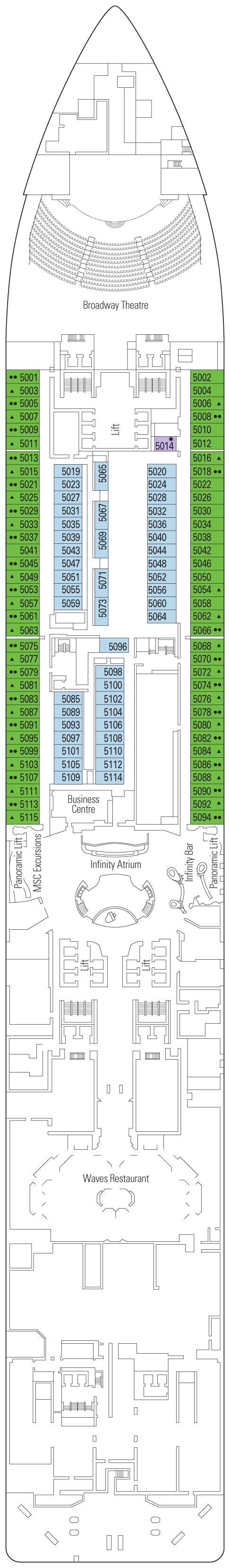 Deck 5 - Colosseo